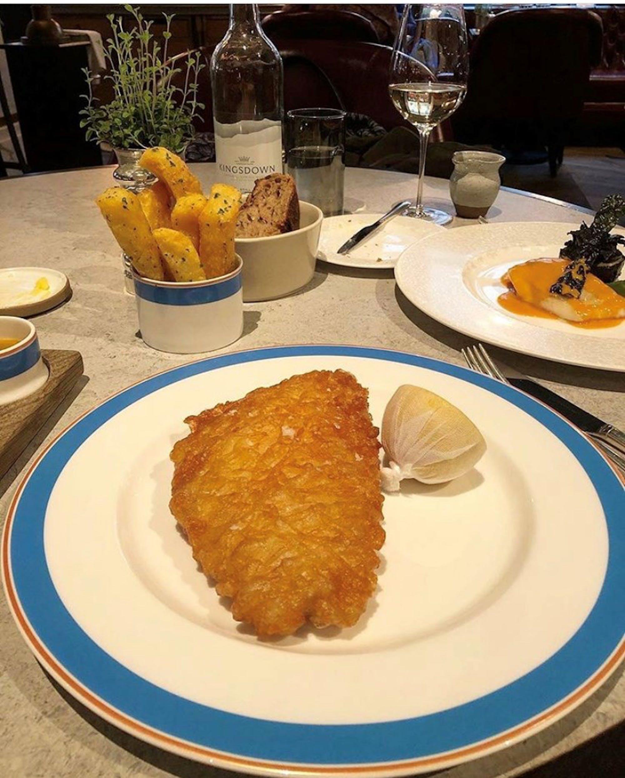 The Walpole Daily Practice  Fish & Chips - Kerridge's Bar & Grill at The Corinthia