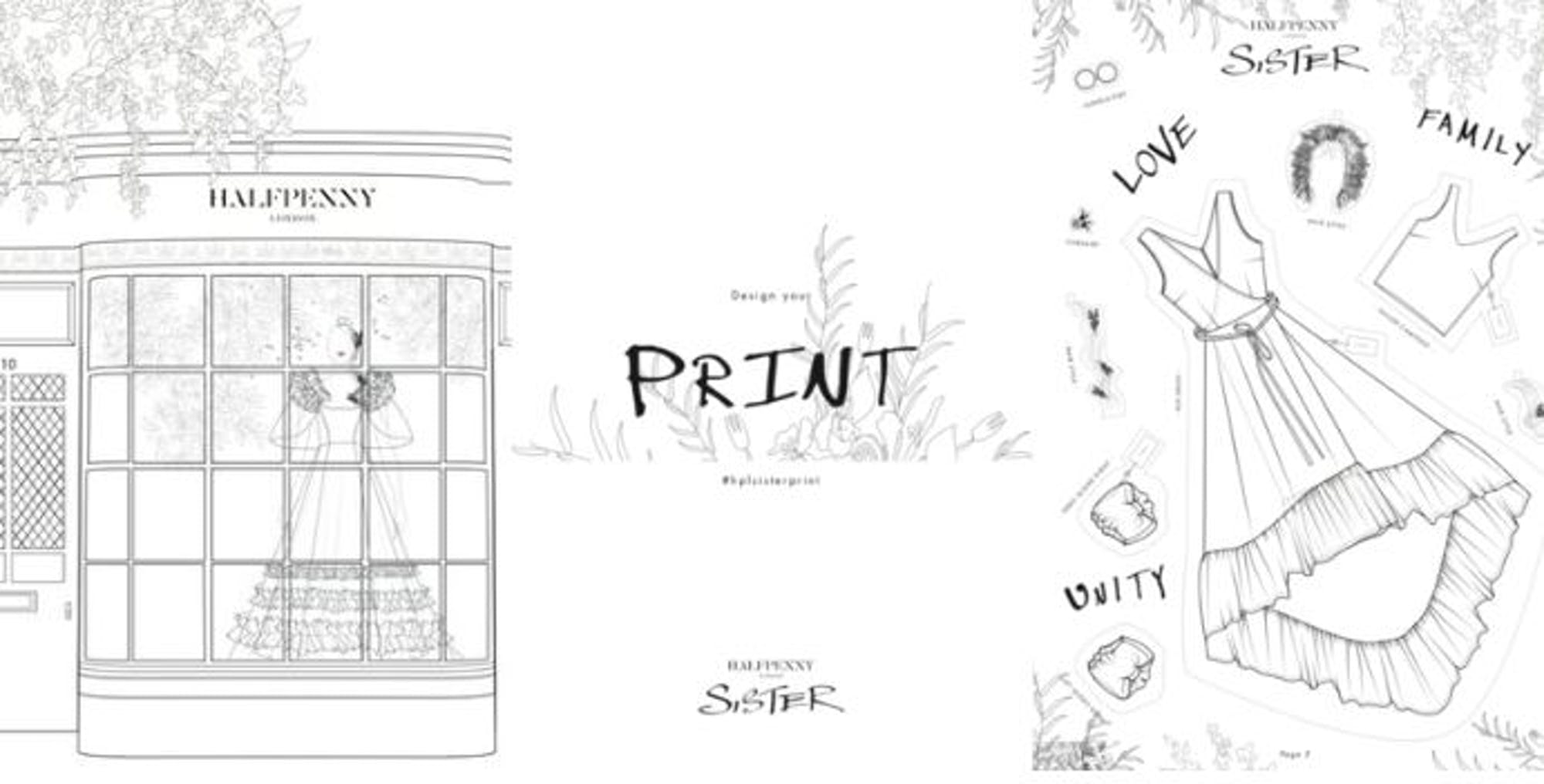 Get creative with Halfpenny's colouring book and print design competition