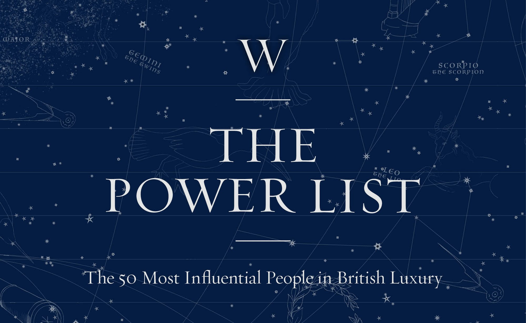 The Power List 2020  Who will be named as the 50 Most Influential People in British Luxury?
